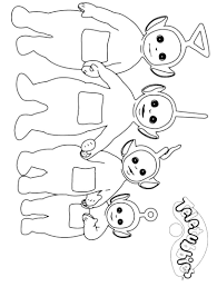 Small Picture Teletubbies Coloring Pages Coloring Pages