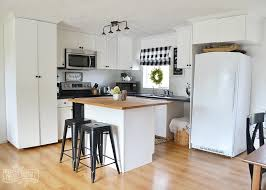 white country cottage kitchen. A Budget Friendly, Black And White Country Cottage Farmhouse Kitchen K