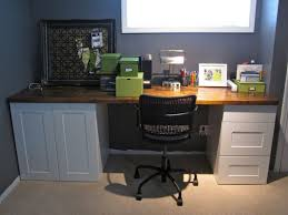 kitchen cabinets for home office. simple desk can be made with 2 reclaimed cabinets and a door kitchen for home office