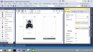 Xamarin Forms Designer Visual Studio Using The Xamarin Designer For Ios In Visual Studio