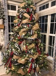 Designer Christmas Tree Ribbon Buffalo Check Christmas Tree With Ribbon 2018 Ribbon On