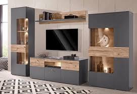 Wenn sie wohnzimmermöbel online kaufen, finden sie bei den meisten modellen und marken die zu ihrer wohnwand passenden sideboards sowie schränke, sodass die einrichtung ihren stimmigen. Wohnwand Wohnwand Modern Wohnen Wohnzimmerschranke