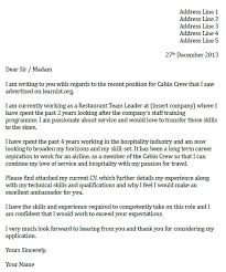 cabin crew cover letter example icover org uk