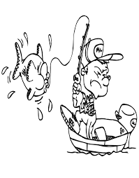 Small Picture Fishing Boat Coloring Pages GetColoringPages Man Fishing