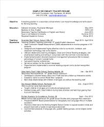 Teacher Resume Objective Adorable 28 Sample Resume Objectives PDF DOC Free Premium Templates