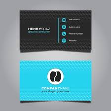 Modern Blue Business Card Design Vector Free Download Classy