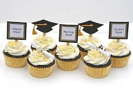 Graduation Cupcakes With Do It Yourself Toppers Graduation