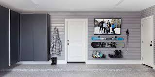 large garage with slatwall organization garage slatwall system
