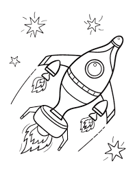 Small Picture Free Rocket Ship Coloring Page