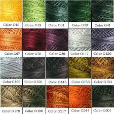 Valdani Color Chart Valdani 3 Ply Stranded Floss Variegated Colors O12 O5430 P1