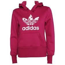 adidas hoodie womens. adidas women\u0027s trefoil hearts hoodie (pink) womens