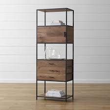 rustic contemporary furniture. knox tall storage bookcase rustic contemporary furniture i
