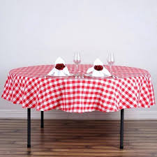 60 round red gingham tablecloth checd tablecloths tab