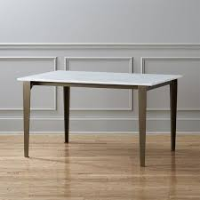 paradigm carrara marble kitchen table reviews cb2 with regard to white prepare 3