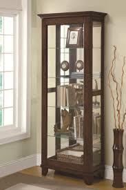 Glass Curio Cabinets With Lights Coaster Curio Cabinets 5 Shelf Curio Cabinet With Mirrored Back