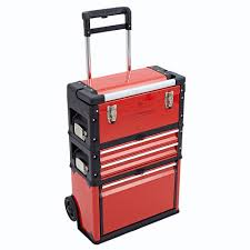 Suitcase With Drawers 3 In 1 Trolley Tool Box Set 4 Drawers