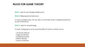 principle of dominance game theory and principle of dominance