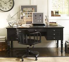 classic home office furniture. Black Desk With Wooden Swivel Chair For Classic Home Office Decorating Ideas Furniture A