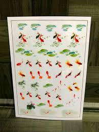 メルカリ 金魚➀新品透明イラストデザインシート レジン用シート