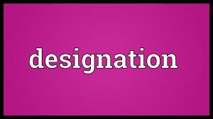 Designation Meaning Youtube