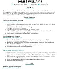 Early Childhood Education Resume Image Excellent Templates Cover