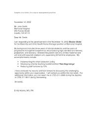Cover Letter For Nursing Student Dew Drops