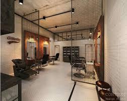 That screen as a divider between cutting floor and reception! Salon InteriorRetail  InteriorBarber Shop InteriorInterior DesignBarbershop ...