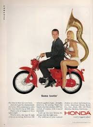 vintage honda motorcycle ads. Unique Vintage An Original 1964 Honda 90 Motorcycle Advertisement Featuring A Sexy Blonde  In Bikini Swimsuit For Vintage Motorcycle Ads Pinterest