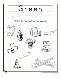 color worksheets for kids. Beautiful For Color Green Worksheet Inside Worksheets For Kids R
