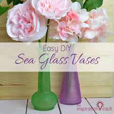 easy diy sea glass vases feature