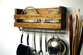kitchen shelves hanging pans