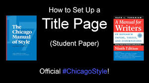 How Do I Format A Chicago Style Title Page Cmos Shop Talk