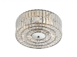 dar lighting err5250 errol crystal semi flush fitting polished chrome