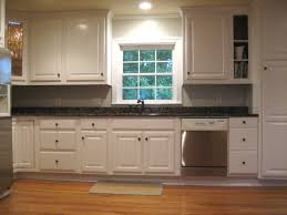 Kitchen Remodels With White Cabinets Black Kitchen Countertop Blue ...