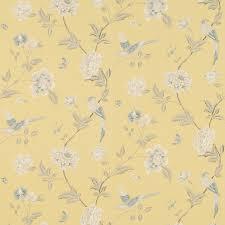 Laura Ashley Wallpaper Bedroom Elveden Camomile Wallpaper An Elegant Archive Print Depicting