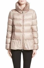 Moncler Anet Peplum Down Puffer Jacket