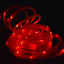 Solar Powered Red Led Lights Fantado 50 Red Led Solar Powered Garden Stake Rope Tube String Light W Light Sensor 16 5 Ft By Paperlanternstore