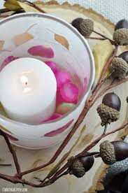 Wax Paper Flower Leaf And Flower Petal Nature Wax Paper Votive Candle Holders