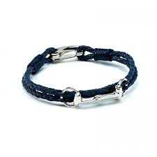 exclusive equestrian sterling silver snaffle leather bracelet