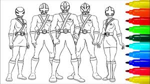 Power Rangers Samurai Coloring Pages Colouring Pages For Kids With
