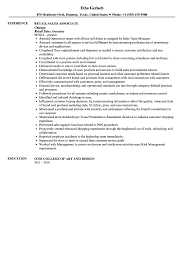 Resume For Sales Associate Sales Associate Resume Sample Velvet Jobs 82