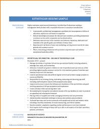 Esthetician Resume Sow Template