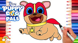 Captain Dog Puppy Dog Pals Coloring Page Puppy Dog Pals Game