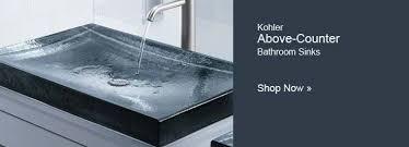make a distinctive statement with kohleru0027s antilia glass countertop bathroom sink