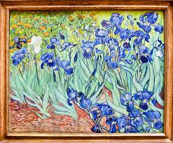 van gogh iris painting getty museum los angeles original editorial stock