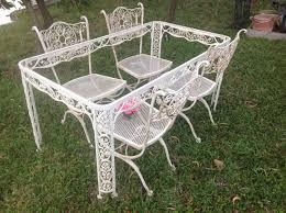 white wrought iron garden furniture. Download Antique Wrought Iron Patio Furniture Michigan Home Design Intended For Garden White