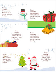 Avery 5164 Labels Holiday Shipping Labels Christmas Spirit Design 6 Per Page