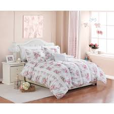 better homes and gardens piece floral ruching bedding comforter