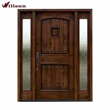 front doors lowesDouble Sidelights Design Doors Front Entry Glass Insert Solid Wood
