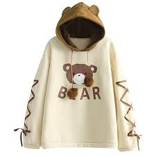 Amazon Com Nrutup Womens Cute Sweater Wear A Bear Cap Long